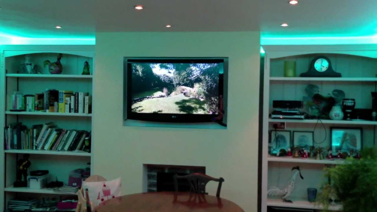 Led Light Strips Living Room Bench Designs Strip Lights Colour Changing Dining Using Instyle Tape Youtube