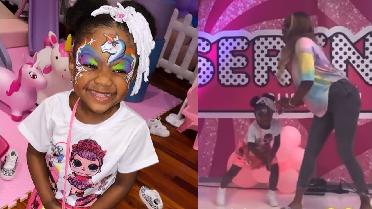Dababy daughter serenity has a blast for her 4th birthday!! 🎉😍