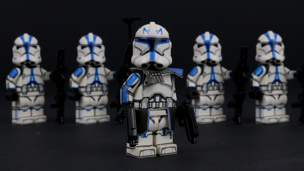 Lego Star Wars clone CAPTAIN REX MINIFIGURE DECALS