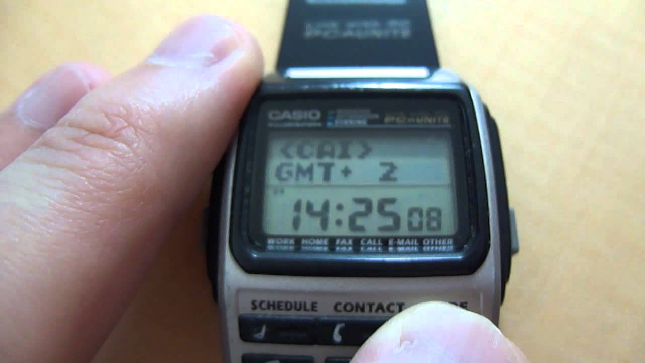 e22dcb0fa4d Casio BZX-20 Databank Watch - YouTube