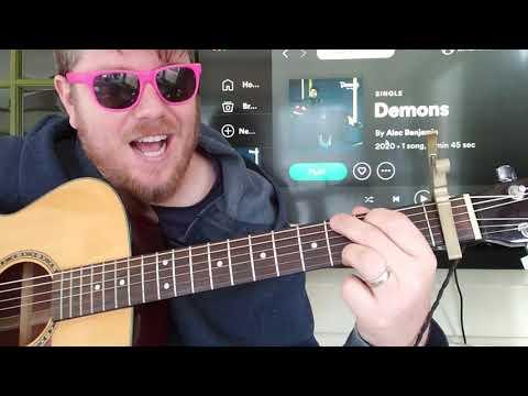 how-to-play-demons-guitar-alec-benjamin-//-guitar-tutorial-beginner-lesson-easy-chords
