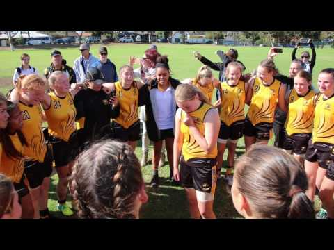 WA State Team sings song after win against Northern Territory