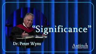 Significance - Dr. Peter Wyns