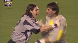 Boca vs River semifinal copa libertadores 2004 (Gol y pelea)