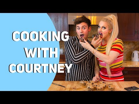 VEGAN Blueberry Muffins *Cooking With Courtney Act* I Tom Daley