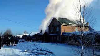 Пожар 18.01.2018 в частном секторе Нижней Салды