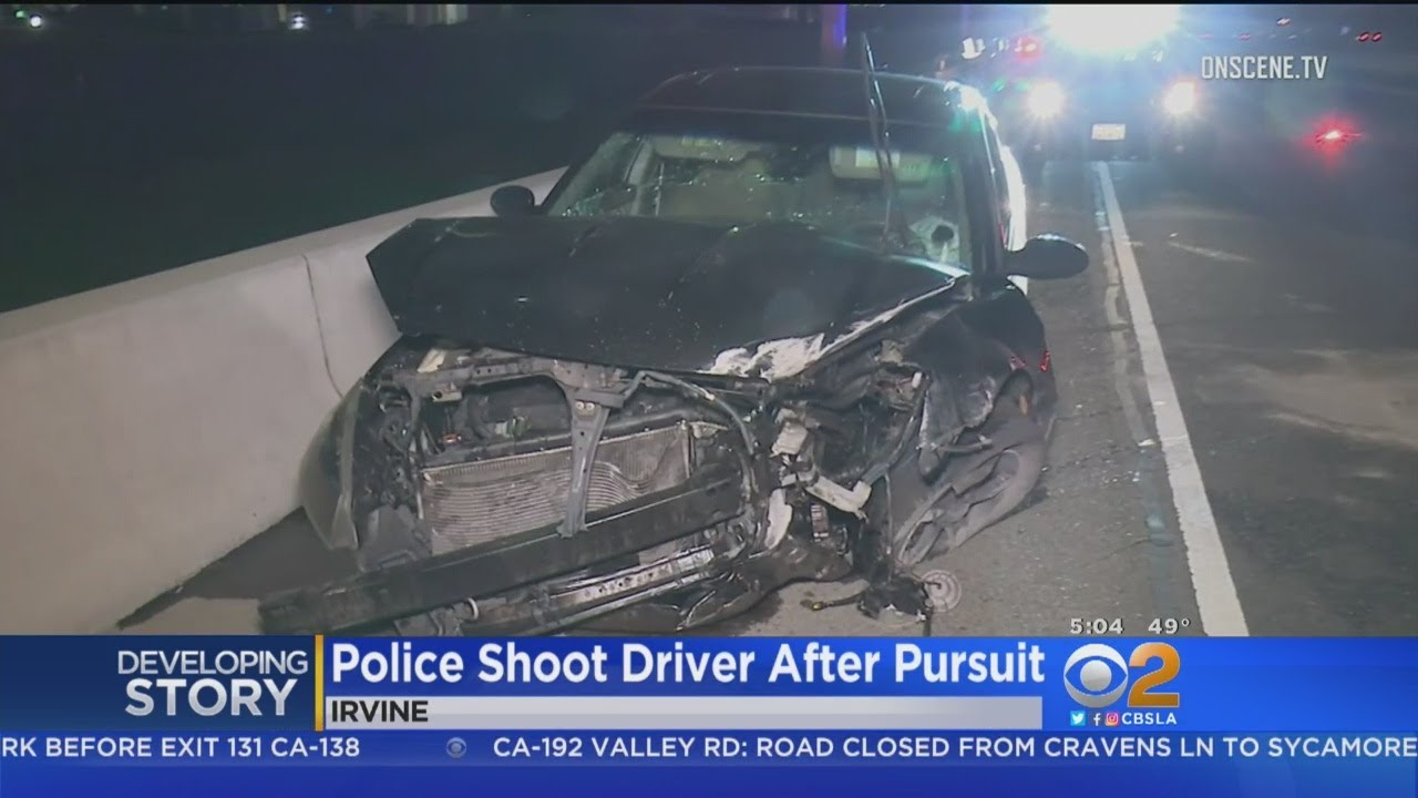 Man Shot By Police Following 405 Freeway Chase, Crash In Irvine