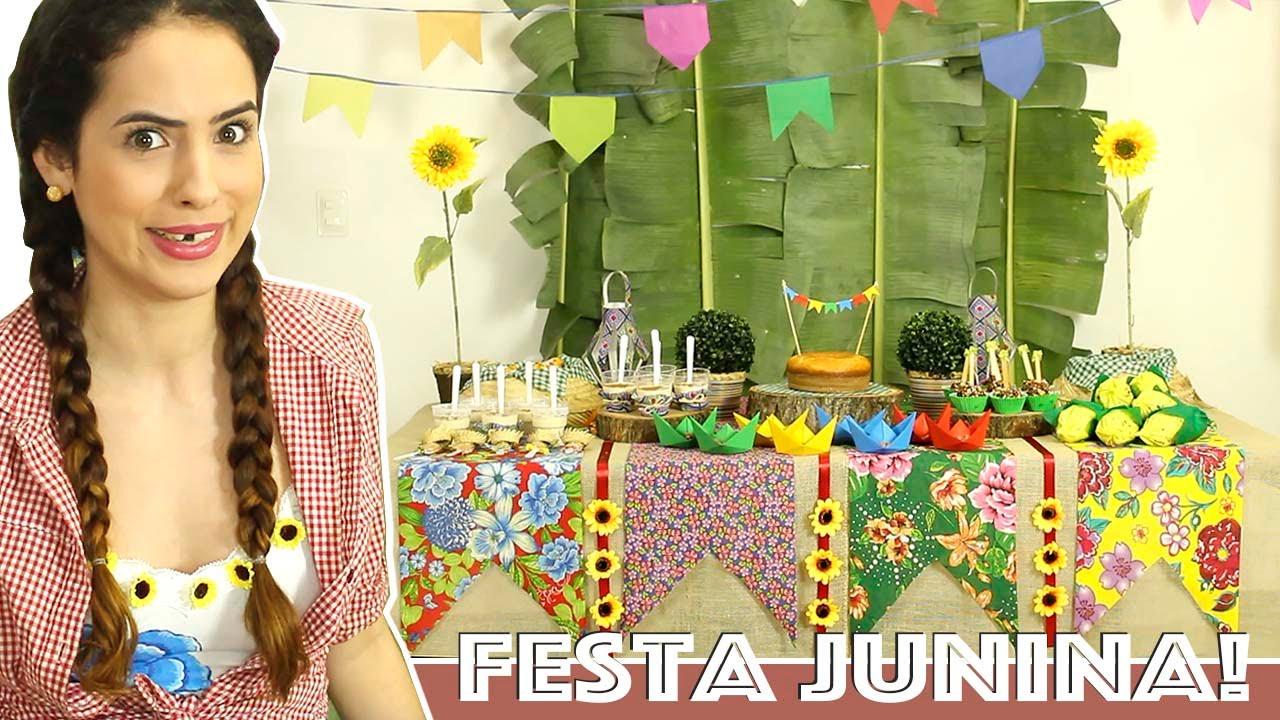 DICAS para DECORAR MESA de FESTA JUNINA YouTube -> Decoração Tnt Festa Junina
