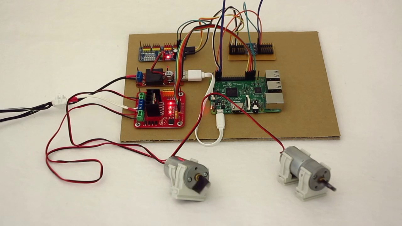 maxresdefault l298n h bridge motor driver controlled by a pca9685 servo controller