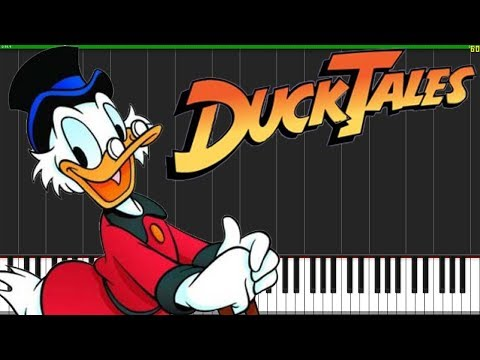 DuckTales Theme Song [Piano Duet] (Synthesia) // JG-77