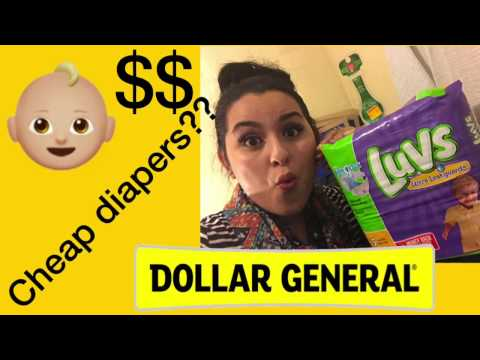 Dollar General Cheap Diapers??? 1/4/17