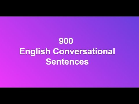 900 English Conversational Sentences