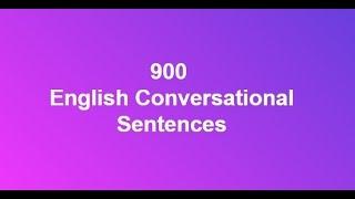 Video 900 English Conversational Sentences download MP3, 3GP, MP4, WEBM, AVI, FLV November 2018
