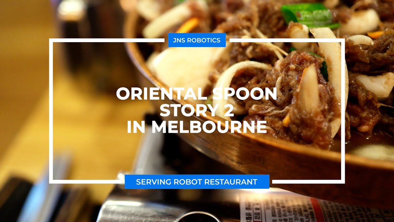 Serving robot at Oriental Spoon in Melbourne