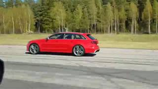 [4k] Tuned Nissan GTR E85, ECU + exhaust vs DBR Audi RS6 Stage 2 Misano Red (750 HP 1000 Nm)
