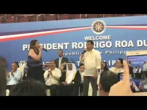 "President Duterte singing ""Ikaw"""