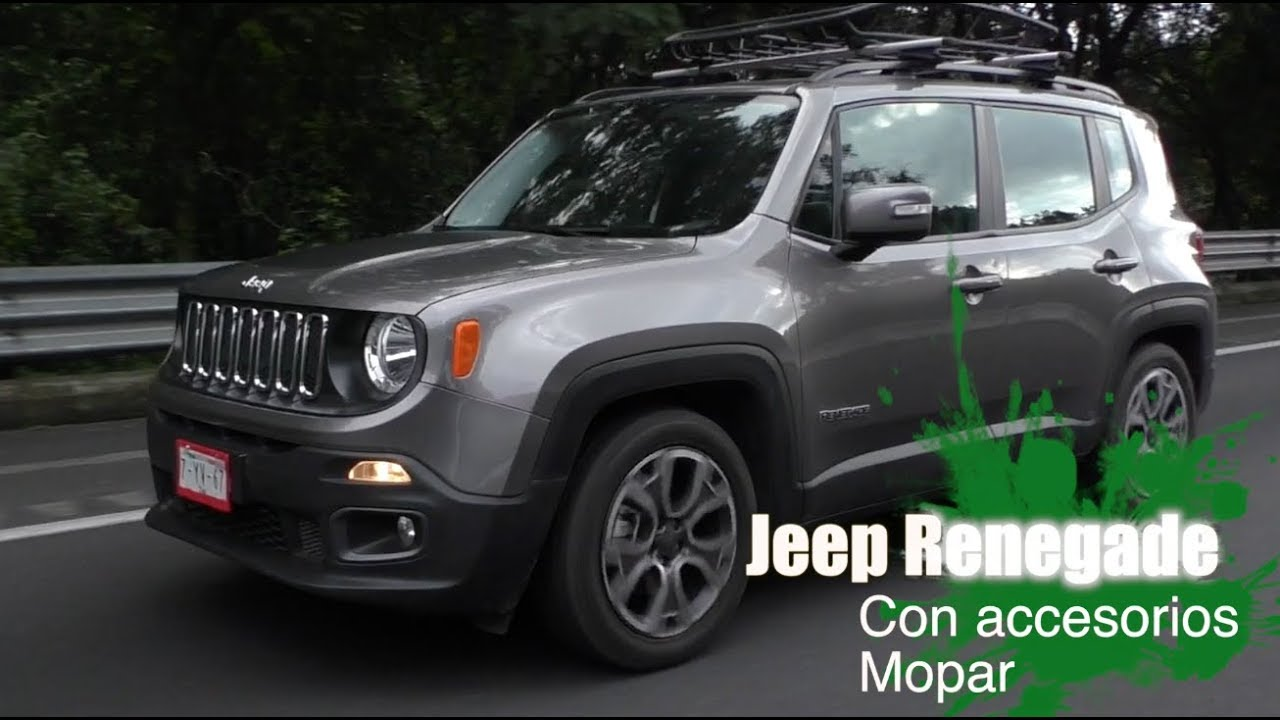 jeep renegade 2018 con accesorios mopar youtube. Black Bedroom Furniture Sets. Home Design Ideas