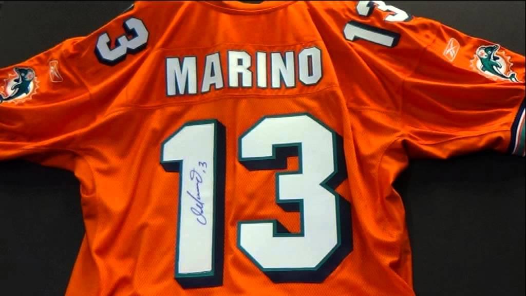 marino autographed jersey