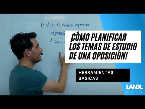 ¡Cómo planificar los temas de estudio de una oposición!