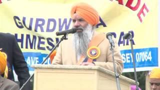 Baisakhi Celebration. Gurdev S. Kang @ Carteret NJ 2013. Record by Amrik Singh Pajjodeota.