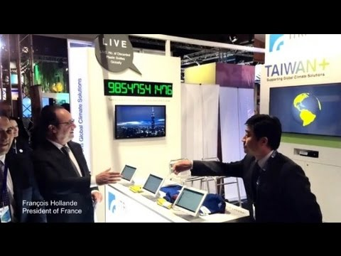 Taiwan's Green Solutions at Paris Climate Exhibition