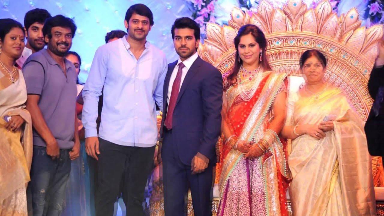actor prabhas at ram charan teja wedding youtube