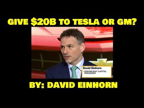 David Einhorn on giving $20B either to Mary Barra or Elon Musk