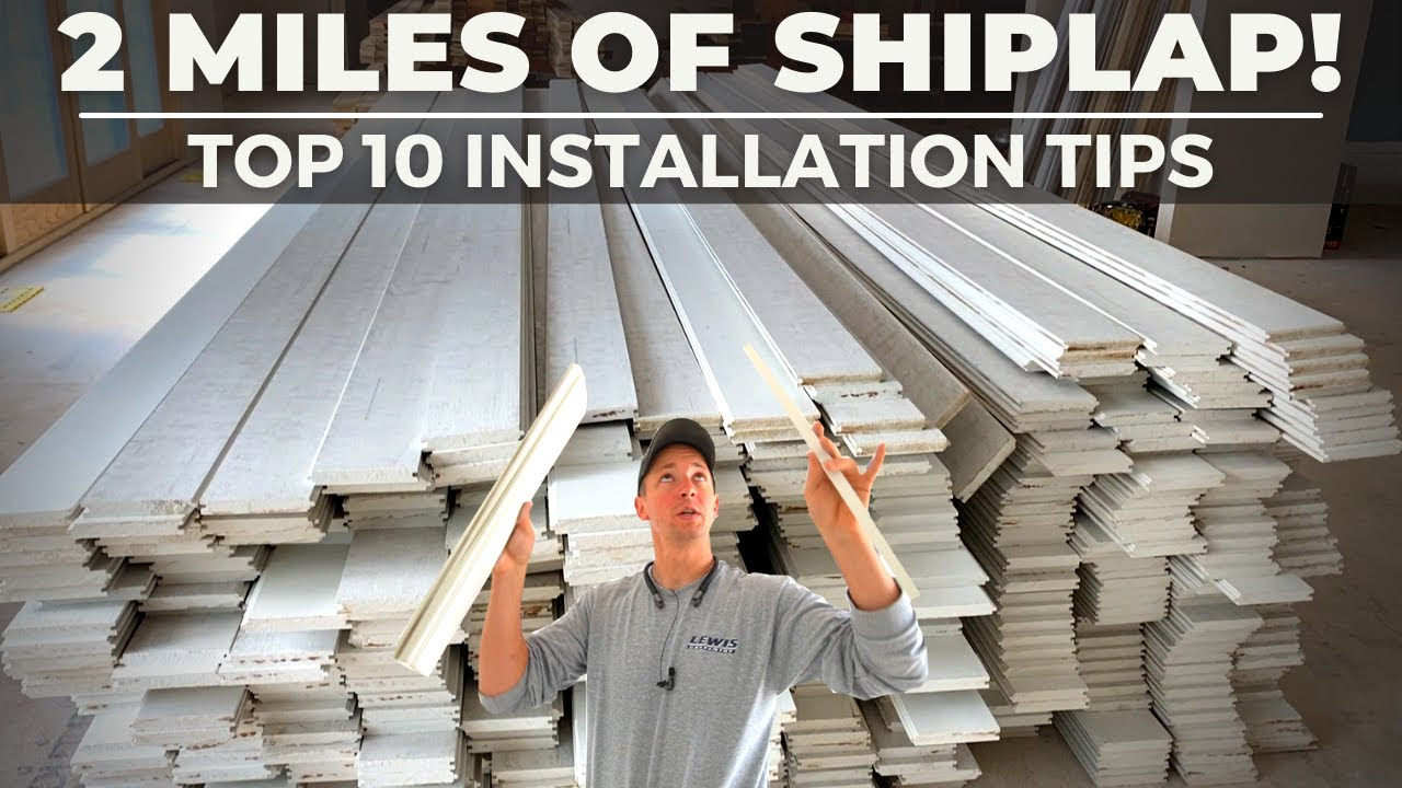 EASY MONEY   My 10 Favorite Shiplap or Nickel Gap Installation Tips