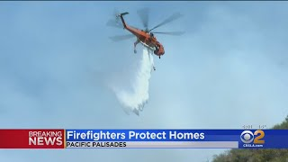 2 Injured In Pacific Palisades Fire, More Than 40 Acres Burned