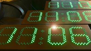 Обзор бюджетных светодиодных часов с зелеными светодиодами, производства компании Новая Идея.
