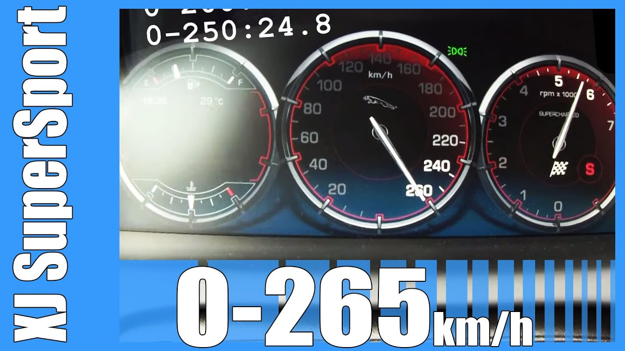 Jaguar XJ SuperSport 5.0 V8 Supercharged 0-265 km/h SICK ...