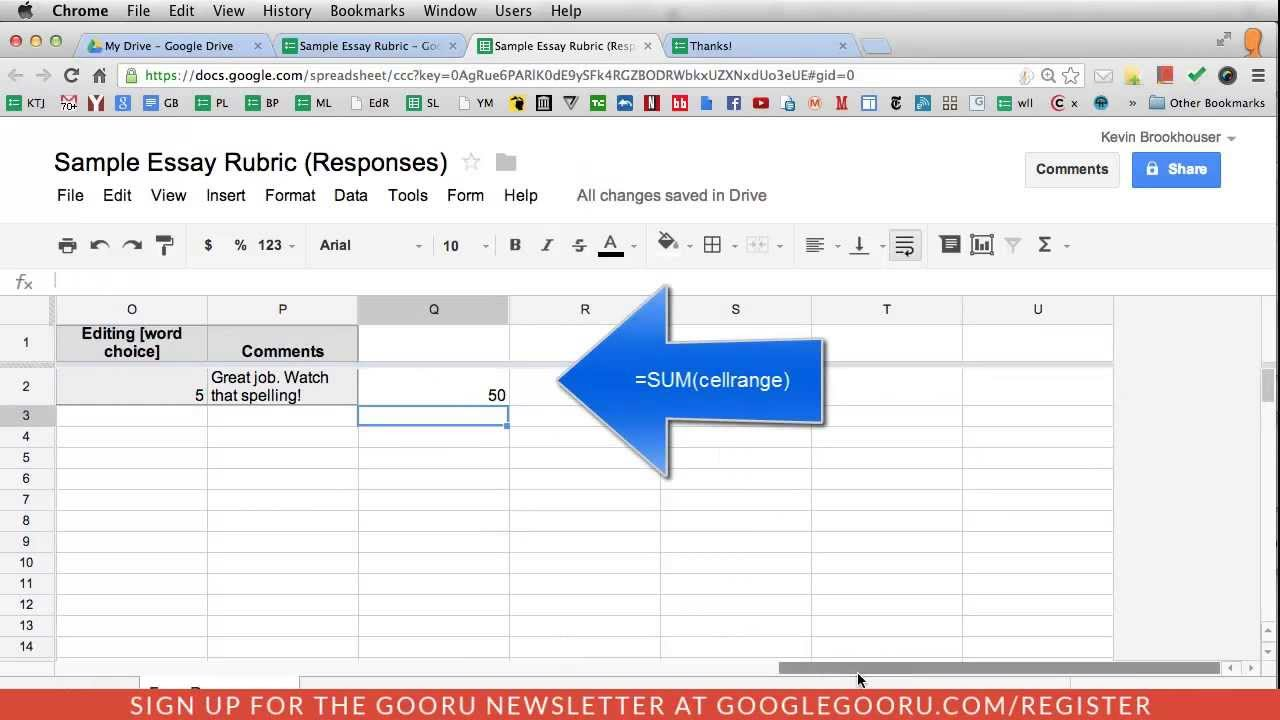 tips for teachers: using google forms for grading rubrics - youtube, Powerpoint templates