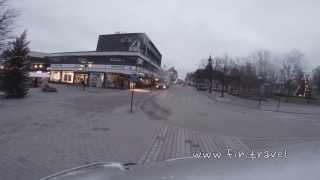 Лаппеенранта утром из окна микроавтобуса.(Лаппеенранта из окна автомобиля. Вид на центральные улицы города. Приглашаем во вторник, четверг и субботу..., 2014-01-11T09:27:11.000Z)