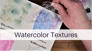 6 Simple Ways t๐ add Watercolor Texture | Watercolor Painting Technique | Beginner Friendly