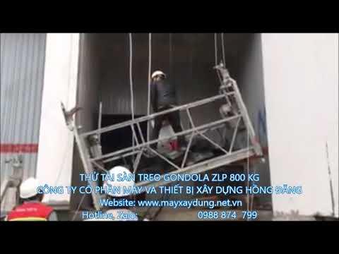 sàn treo thao tác gondola, thử tải sàn treo thao tác, cho thuê sàn treo thao tác 0988874799 - YouTube