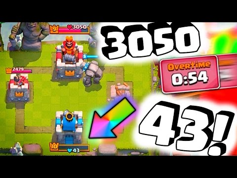 "43 vs 3050 Overtime ""LEGENDARY Comeback!"" [Clash Royale]"