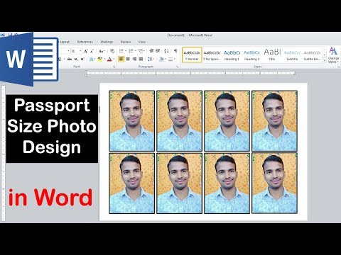 How To Make A Passport Size Photo In Microsoft Word