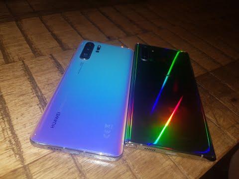 Двата най-красиви телефона през 2019г. - Huawei P30 pro и Samsung Galaxy Note 10 plus