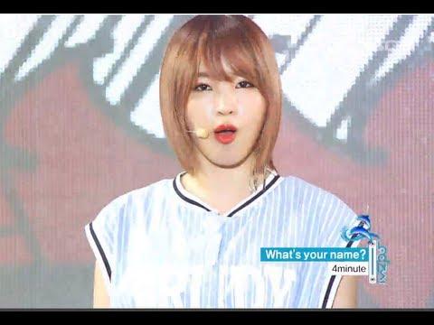 음악중심 - 4minute - What's Your Name?, 포미닛 - 이름이 뭐예요?, Music Core 20130817