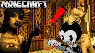 Download BENDY GETS ATTACKED BY ALICE ANGEL IN MINECRAFT! (BATIM Chapter 3 Minecraft) Mp3 and Videos