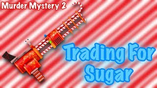 Roblox Murder Mystery 2 Trading For Sugar ! ( RAREST GODLY IN THE GAME )