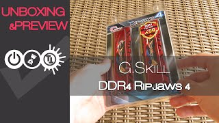 G.Skill Ripjaws 4 DDR4 RAM Unboxing & Preview