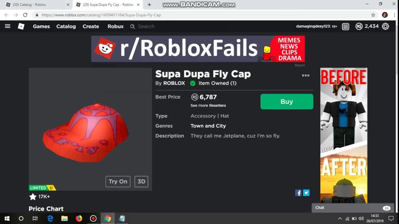 Supa Fly Cap Roblox