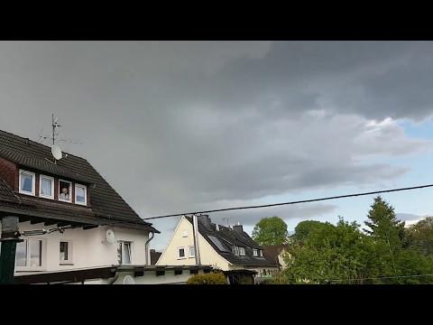Hagel über Schauenburg/Elgershausen am 13.05.2017