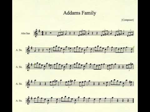 Addams Family Theme for Alto Sax