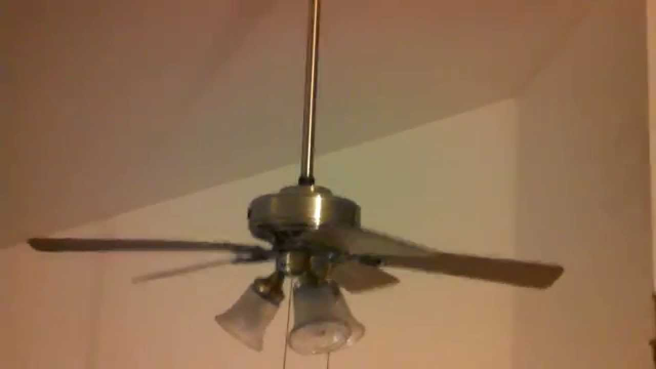 Hunter beacon hill ceiling fan removalreplacement youtube mozeypictures Gallery