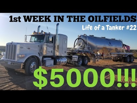 My First Week in The Oilfields as a Frac Sand Driver and My New Company – Life of a Tanker #22