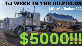 My First Week in The Oilfields as a Frac Sand Driver and My New Company - Life of a Tanker #22
