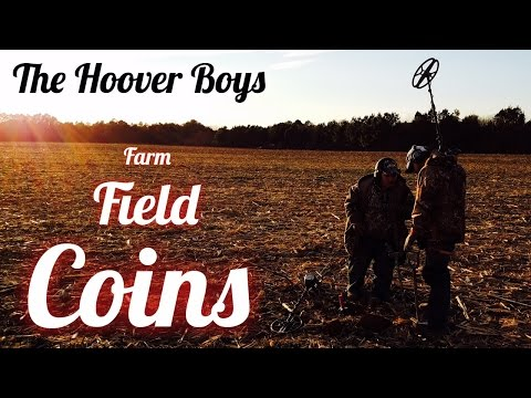 Metal Detecting Old Silver & Copper Coins | Farm Field Coins