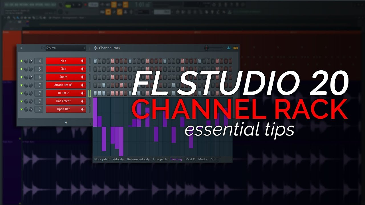 fl studio 20 basics the channel rack step sequencer
